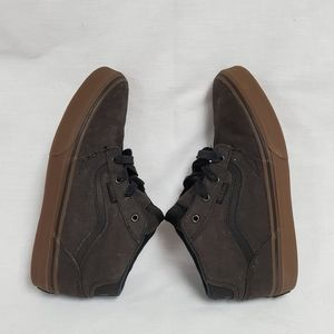 Vans Off The Wall Shoes Youth Boys 3 Brown mid